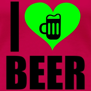 I Love Beer 2 T-Shirts - Frauen Premium T-Shirt