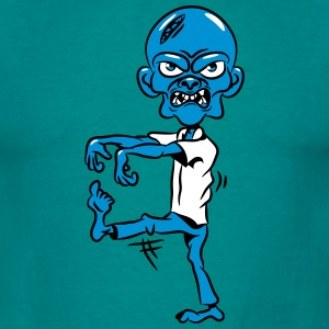 zombie grappige comic T-shirts - Mannen T-shirt