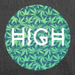 HIGH / cannabis Hipster Typo - Pattern Design  Borse & zaini - Borsa in materiale riciclato
