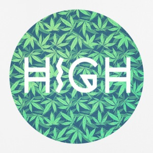 HIGH / cannabis Hipster Typo - Pattern Design  Other - Mouse Pad (vertical)