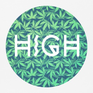 HIGH / Cannabis Hipster Typo - Muster Design  Sons - Mousepad (Querformat)