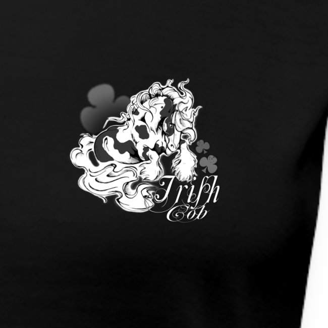 t shirt noir irish cob design face avant et dos