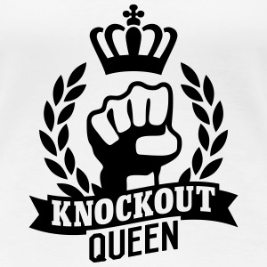 Knockout Queen T-shirts - Premium-T-shirt dam