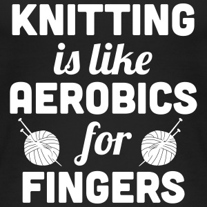 Knitting is like aerobics - for fingers Tops - Vrouwen bio tank top