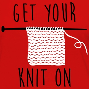 get your knit on Skjorter med lange armer - Premium langermet T-skjorte for kvinner