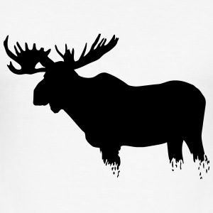 Elch - Moose T-Shirts - Männer Slim Fit T-Shirt