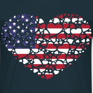 heart_united_state Tee shirts - T-shirt Homme