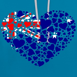 heart_australia Sweat-shirts - Sweat-shirt contraste