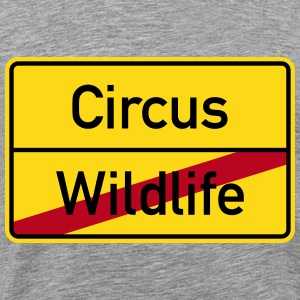 Wildlife Circus Stag Party City Sign T-Shirts - Men's Premium T-Shirt