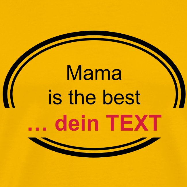 Mama is the best …  (editierbar)