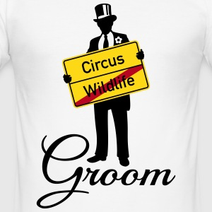 Circus Wildlife Groom (Bridegroom / Stag Party) T-Shirts - Men's Slim Fit T-Shirt