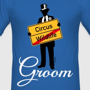 Circus Wildlife Groom (Bridegroom Stag Party PNG) T-Shirts - Men's Slim Fit T-Shirt