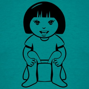 wc little girl sitting T-Shirts - Men's T-Shirt