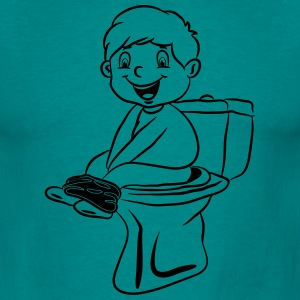 wc little boy sitting loo T-Shirts - Men's T-Shirt
