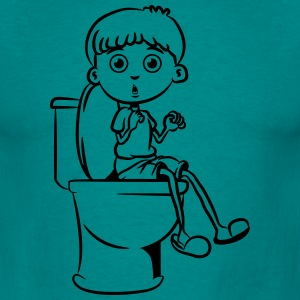 Sitting little boy wc T-Shirts - Men's T-Shirt