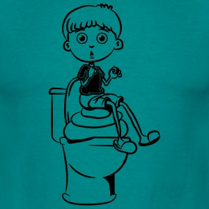 wc little boy shit heap T-Shirts - Men's T-Shirt