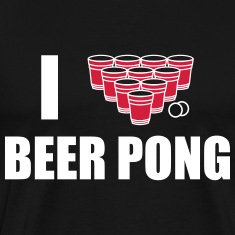 T-SHIRT I LOVE BEER PONG
