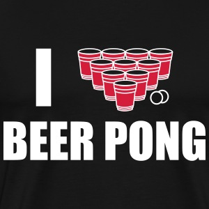T-SHIRT I LOVE BEER PONG - T-shirt Premium Homme