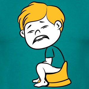 press wc loo little boy funny T-Shirts - Men's T-Shirt