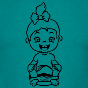 wc loo little girl sitting joy T-Shirts - Men's T-Shirt