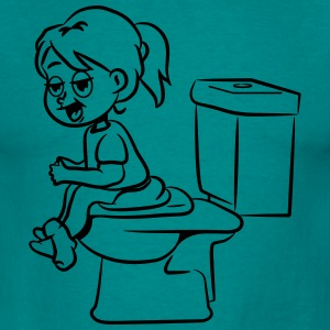 loo wc Sitting little girl T-Shirts - Men's T-Shirt