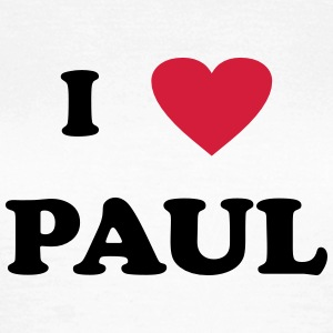 I Love Paul T-Shirts - Dame-T-shirt