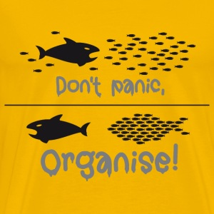 Don't panic, organise! Hai Demonstration occupy - Männer Premium T-Shirt