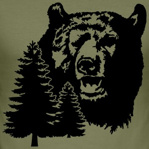 Bear in the Woods T-Shirts - Männer Slim Fit T-Shirt