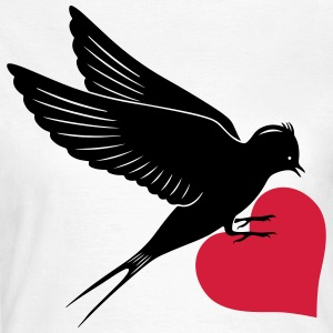Bird Heart T-Shirts - Frauen T-Shirt