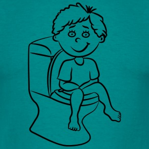 loo wc sitting little boy T-Shirts - Men's T-Shirt
