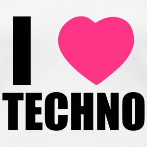 I LOVE TECHNO 2 T-shirts - Vrouwen Premium T-shirt