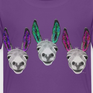 3 coloured donkeys / 3 farbige Esel Shirts - Kids' Premium T-Shirt