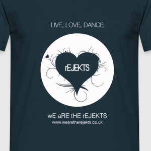 Rejekt Music - Live Love Dance Design - White Logo - Men's T-Shirt