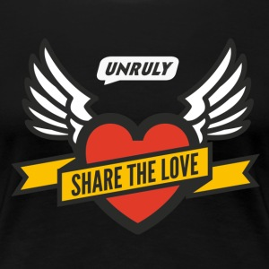 Unruly Share The Love Black Female - Women's Premium T-Shirt