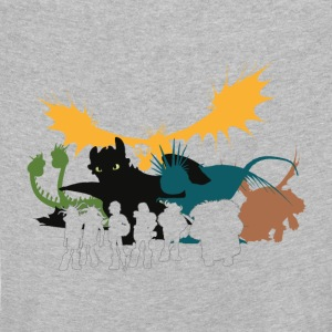 Dragons cru groupe enfants tee shirt manches longu - T-shirt manches longues Premium Enfant
