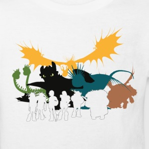 Dragons Vintage Group Kids T-Shirt - Kids' Organic T-shirt