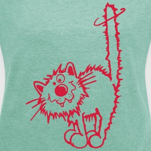 Naughty cat T-Shirts - Women's T-shirt with rolled up sleeves