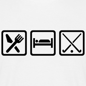 Eat sleep Feldhockey T-Shirts - Männer T-Shirt