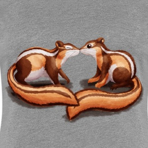 Heather grey Chipmunks T-Shirts - Women's Premium T-Shirt