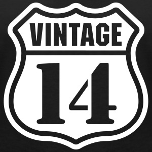 Vintage 14 T-Shirts - Women's V-Neck T-Shirt