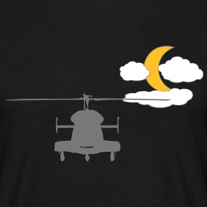 Helicopter with Moon - Men's T-Shirt