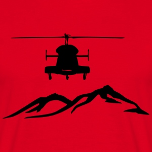 Helicopter mountain - Men's T-Shirt