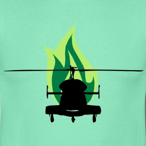 Helikopter mit Feuer - Herre-T-shirt