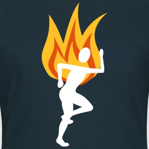Runners with flames - Women's T-Shirt