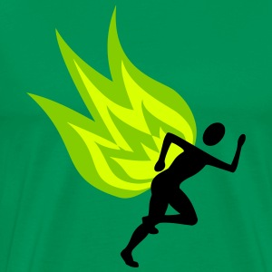 Runners with flames - Men's Premium T-Shirt