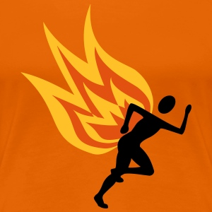 Runners with flames - Women's Premium T-Shirt