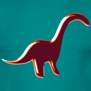 Dinosaur Brontosaurus button T-Shirts - Men's T-Shirt