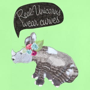 Real Unicorns wear curves Baby T-Shirts - Baby T-Shirt