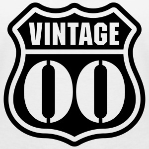 Vintage 00 T-Shirts - Women's V-Neck T-Shirt
