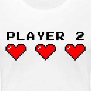 Player 2 couple t-shirt - T-shirt Premium Femme